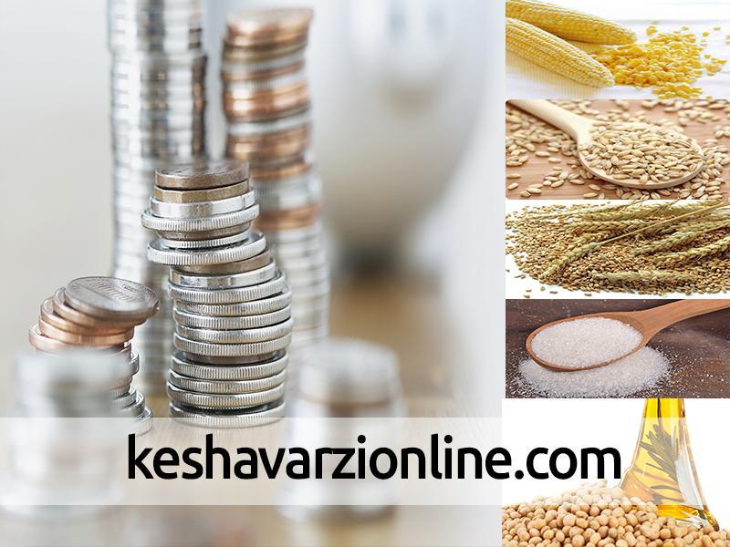 تغییرات قیمت محصولات کشاورزی