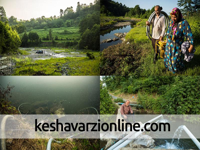 خشک شدن رودخانهها و شالیزارها در لنگرود