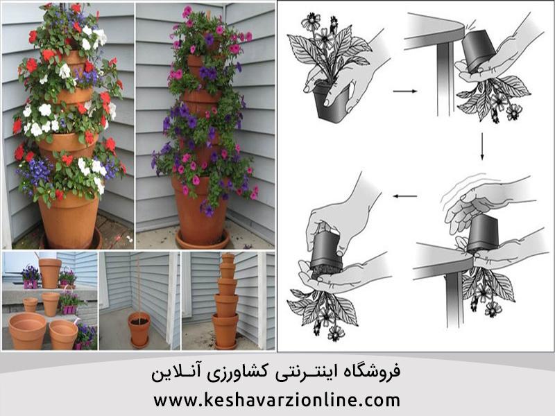 آموزش تصویری کاشت گل در گلدان و معرفی انواع گلدان