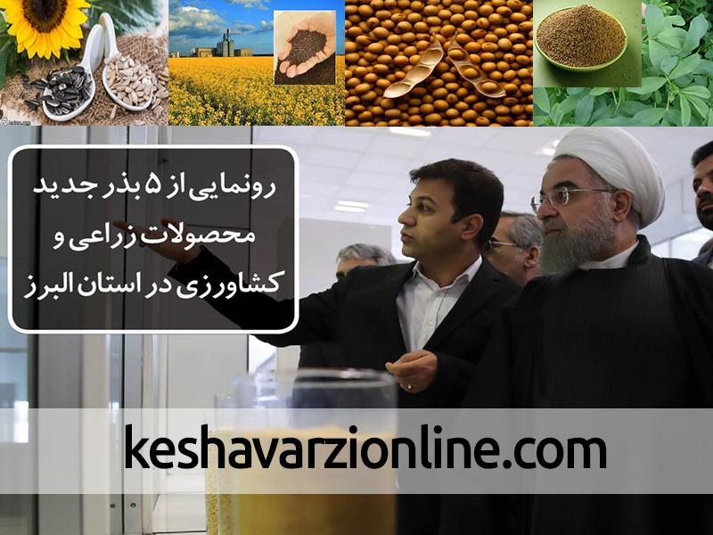 رونمایی از 5 بذر جدید محصولات زراعی و کشاورزی در استان البرز