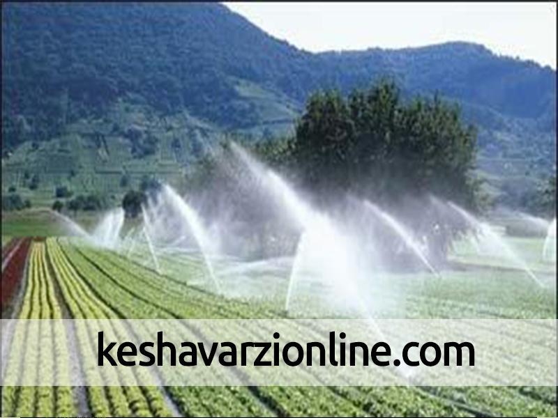 اجرای طرح آبیاری نوین در بهاباد