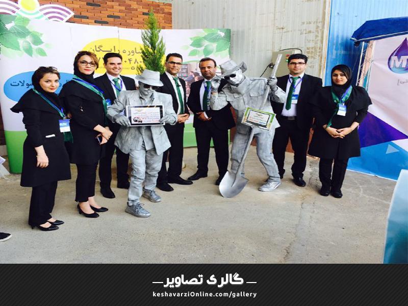حضور هنرمندان سیلور من در غرفه کشاورزی آنلاین در نمایشگاه بینالمللی شیراز