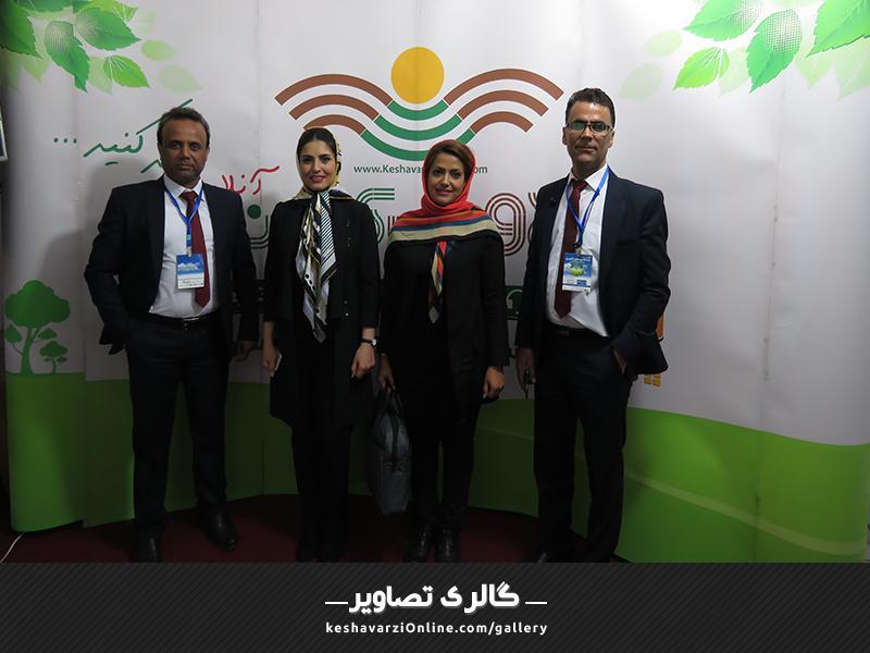 حضور همکاران در غرفه کشاورزی آنلاین در نمایشگاه بین المللی شیراز اردیبهشت 1397
