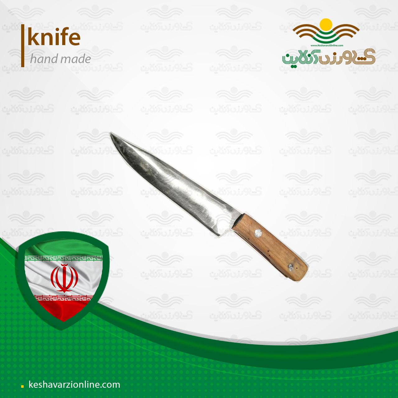 چاقو دست ساز ساخته شده از فنر ماشین