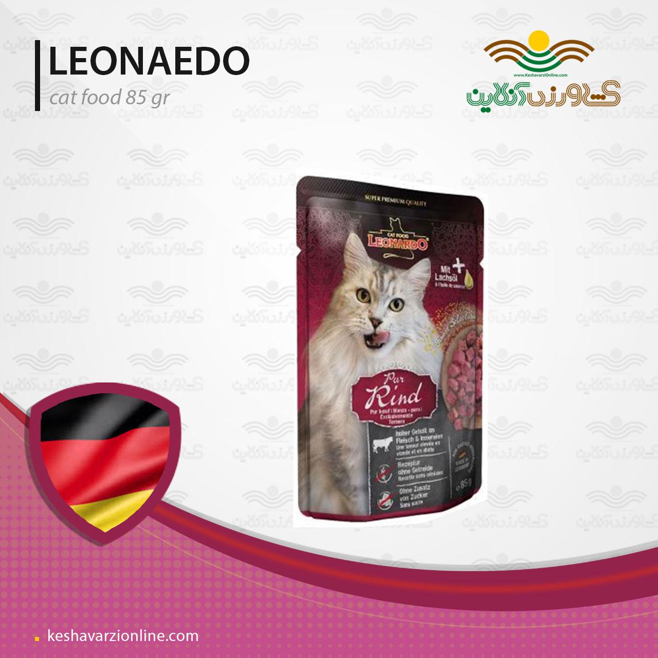پت شاپ غذای مرطوب گربه لئوناردو 85 گرمی