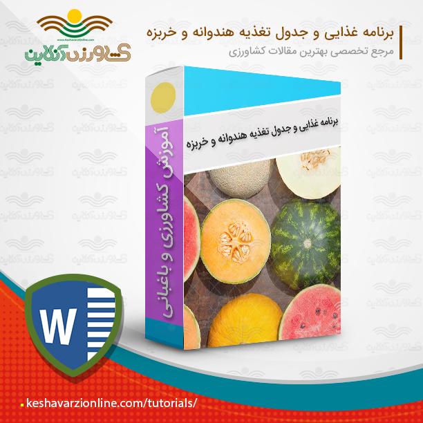دانلود برنامه غذایی هندوانه و خربزه