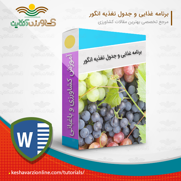 دانلود برنامه غذایی انگور