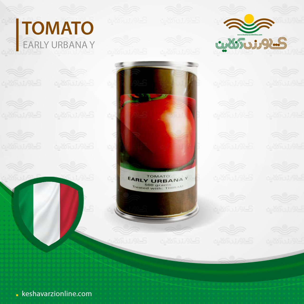 بذر گوجه فرنگی ارلی اوربانا وای کنیون ایتالیا نیم کیلویی