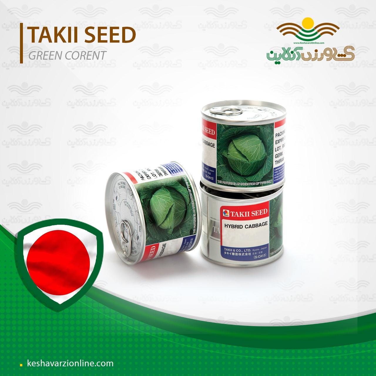 بذر کلم پیچ یا کلم برگ گرین کرنت تاکی ژاپن