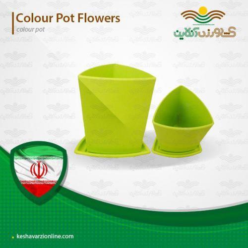 گلدان مثلتی دلتا در هفت رنگ شاد