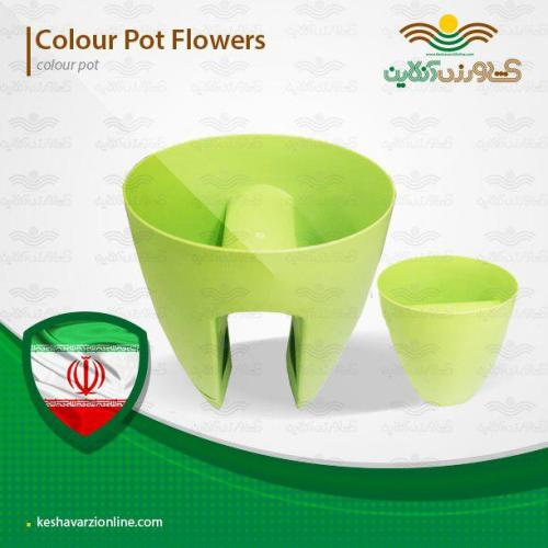 گلدان مخصوص نرده یا خورجینی