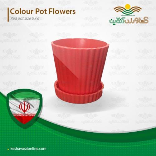 گلدان مخصوص کاکتوس قرمز